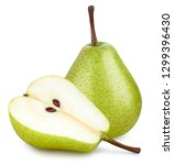 pear isolated on white. pear... | Shutterstock . vector #1299396430