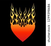 tattoo heart tribal flame... | Shutterstock .eps vector #1299398686