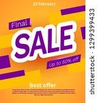 final sale poster or flyer... | Shutterstock .eps vector #1299399433