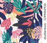 seamless pattern with colorful... | Shutterstock .eps vector #1299402910