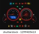 car speedometer  modern auto... | Shutterstock .eps vector #1299405613