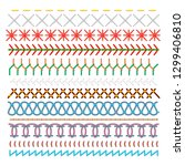 colored sewing stitches set ... | Shutterstock .eps vector #1299406810