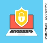 computer security concept.... | Shutterstock .eps vector #1299406990