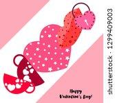 valentine's day  mug  lock ... | Shutterstock .eps vector #1299409003