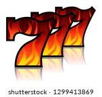 triple lucky blazing sevens... | Shutterstock .eps vector #1299413869