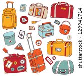 vector collection of vintage... | Shutterstock .eps vector #129941714