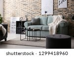 stylish interior of living room ... | Shutterstock . vector #1299418960