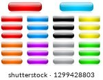 colored 3d glass buttons.... | Shutterstock .eps vector #1299428803