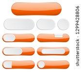 orange interface buttons. web... | Shutterstock .eps vector #1299428806