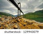scenic fjord on the lofoten...   Shutterstock . vector #129943079