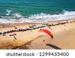 top view of beach in goa india... | Shutterstock . vector #1299435400
