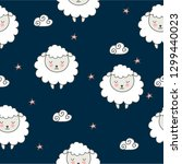 seamless pattern with cartoon... | Shutterstock .eps vector #1299440023