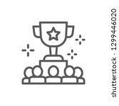 vector awarding team for... | Shutterstock .eps vector #1299446020