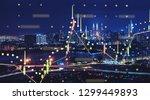 beautiful kuala lumpur skyline...   Shutterstock . vector #1299449893