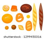 set of isolated pastry or... | Shutterstock .eps vector #1299450316