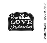 snowboard retro logo with quote ... | Shutterstock .eps vector #1299450910