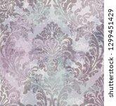 rococo texture pattern vector.... | Shutterstock .eps vector #1299451429