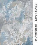 rococo texture pattern vector.... | Shutterstock .eps vector #1299451483