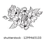 hand drawing vector and sketch... | Shutterstock .eps vector #1299465133