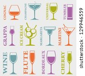 set of alcohol drinks icons.... | Shutterstock .eps vector #129946559
