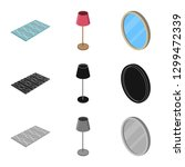vector design of bedroom and...   Shutterstock .eps vector #1299472339