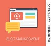 flat illustration of blog... | Shutterstock .eps vector #1299476800