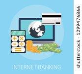 vector illustration of internet ... | Shutterstock .eps vector #1299476866