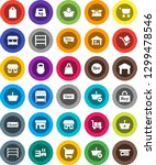 white solid icon set  office... | Shutterstock .eps vector #1299478546