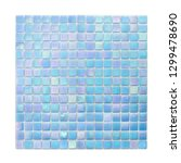 square background wall mosaic... | Shutterstock . vector #1299478690