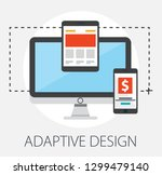 web development concept ... | Shutterstock .eps vector #1299479140