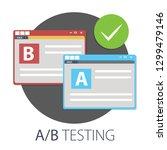 exam preparation  school test ... | Shutterstock .eps vector #1299479146