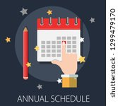 calendar and pencil. concept of ... | Shutterstock .eps vector #1299479170