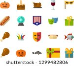 color flat icon set  ... | Shutterstock .eps vector #1299482806