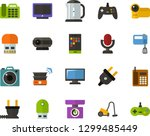 color flat icon set   screen... | Shutterstock .eps vector #1299485449
