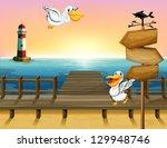 Illustration Of Two Birds Near  ...