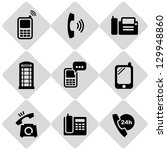 phones icons | Shutterstock .eps vector #129948860