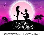 happy valentine's day ... | Shutterstock .eps vector #1299494623