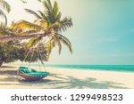vintage toned dream scene of...   Shutterstock . vector #1299498523