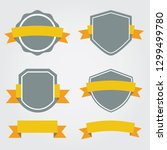 set of shields and ribbons... | Shutterstock .eps vector #1299499780