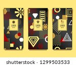 set templates flyers banners... | Shutterstock .eps vector #1299503533