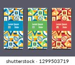 set templates flyers banners... | Shutterstock .eps vector #1299503719