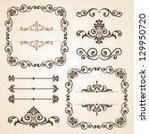 set of vintage ornate frames... | Shutterstock .eps vector #129950720