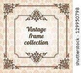 set of vintage ornate frames... | Shutterstock .eps vector #129950798