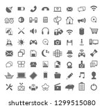 large set of media icons...   Shutterstock .eps vector #1299515080