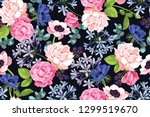 vector botanical seamless... | Shutterstock .eps vector #1299519670