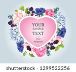 vector  banners with roses and... | Shutterstock .eps vector #1299522256
