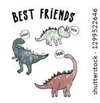 cute dinosaur slogan | Shutterstock .eps vector #1299522646