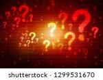2d illustration question mark | Shutterstock . vector #1299531670