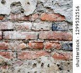 grunge brick wall background... | Shutterstock . vector #1299532516