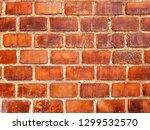 red brick wall texture... | Shutterstock . vector #1299532570